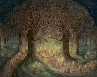 In the Heart the Woodland Wakes- Limited edition Giclee print