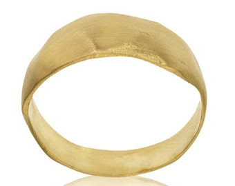 Modern Rustic Gold Wedding Band, Rustic Jewelry, Modern Wedding Band, Yellow Gold Wedding Band, Rustic Ring, Gold Jewelry, Modern Jewelry