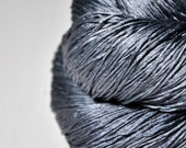 Stormy gray sea - Silk Fingering Yarn