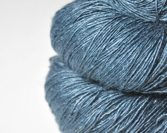 Hazy winter sky - Tussah Silk Fingering Yarn