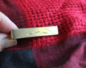 Tie Clip, Tie Clasp, Tie Bar, Tie Tack, Tie Pin, Florentine, Mid Century, 50s,60s,