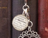 Godmother Bookmark with Silver-tone Scroll heart by Kristin Victoria Designs