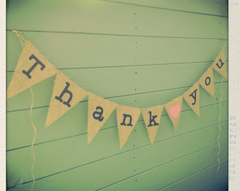Burlap Thank you bunting