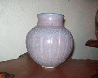Architectural, Arts and Crafts Inspired - Ann Selberg - Portland, OR artist - Porcelain, Lavender Crystalline Matte -
