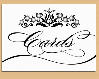Instant Download - Wedding Cards Sign for Wishing Well - Digital Card Sign