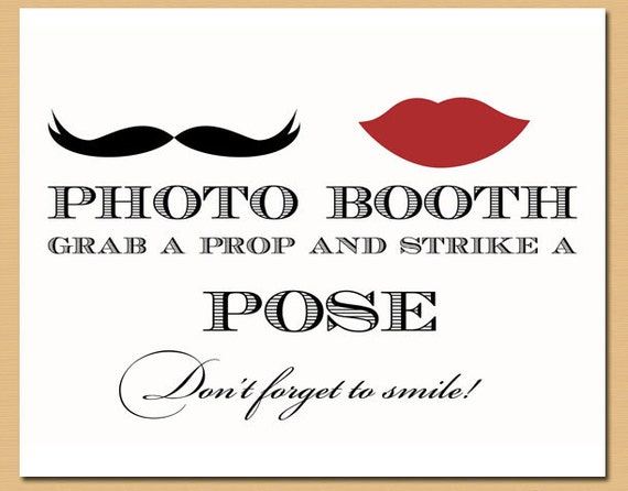 photo booth sign printable images galleries with a bite. Black Bedroom Furniture Sets. Home Design Ideas