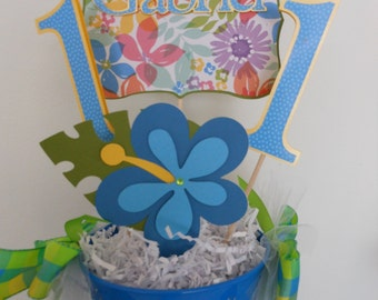 Luau Centerpiece for Boy's Birthday