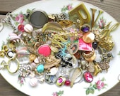 Lot of Vintage Costume Jewelry for Upcycling, Repurposing - Lot 1