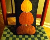 Halloween Fall Felt Pumpkin Pillow