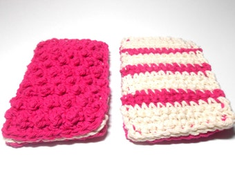 Cotton Sponges Hand Crocheted for Bath or Kitchen