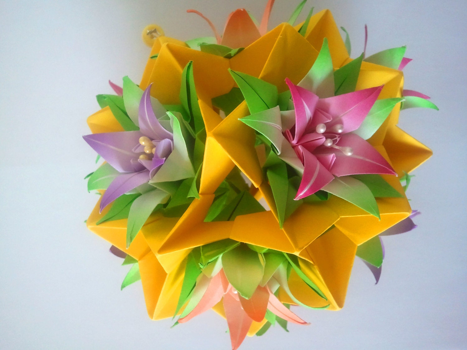 3d Origami kusudama FLOWERS - photo#47