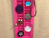 Upcycled Jewelry Organizing Display (Pink Window Shutter)