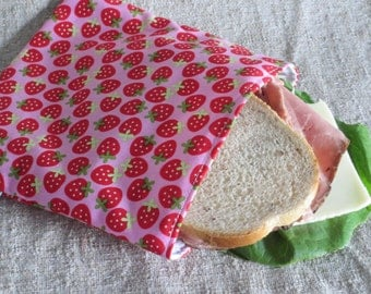Reusable Sandwich Bag - Strawberries