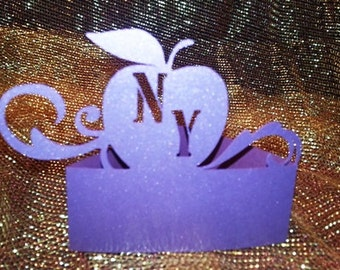 Apple NY place cards set of six