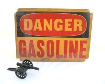 vintage signage.DANGER sign.gasoline.red.black.tessiemay