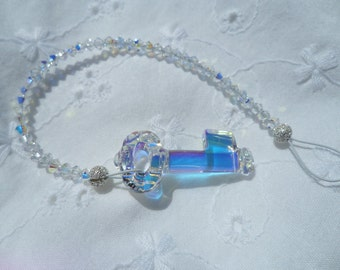 Swarovski Crystal Sun Catcher with Key Pendant