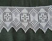 Antique Crocheted Lace Trim Extra Wide Vintage Ecru