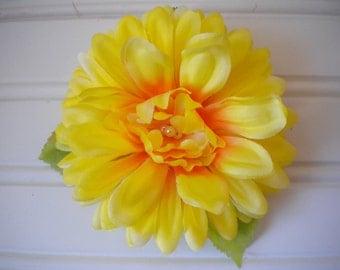 Yellow Sunflower Hair Clip