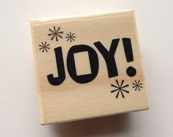 CIJ SALE Joy Rubber Stamp  // Brand New