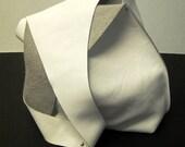 Shoulder Handbag Handmade In White Leather
