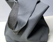 Shoulder Handbag Handmade In Sea Foam Blue Leather