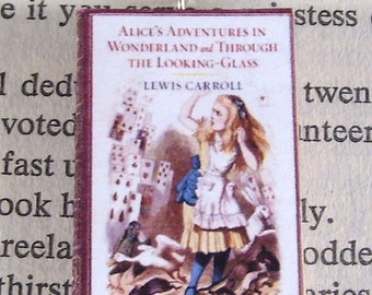 Miniature Classic Novels Book Necklace Charm Alice in Wonderland Version 2