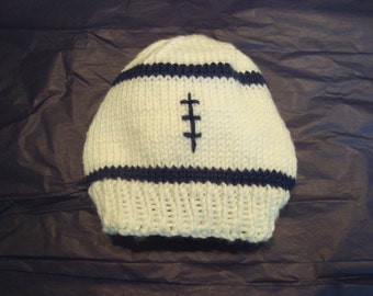 Penn State Baby Football Hat White and Blue