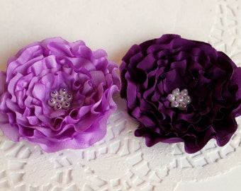 Purple Flower Pin Or Hair Clip