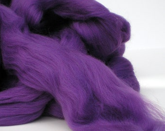 """Ashland Bay Solid Colored Merino for Spinning or Felting """"Purple""""  4 oz."""