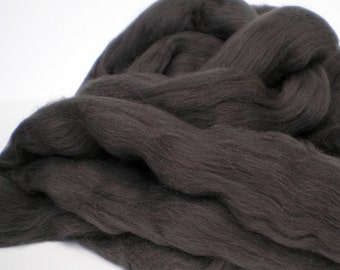 """Ashland Bay Solid Colored Merino for Spinning or Felting """"Carbon""""  4 oz."""