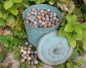 A Superb Batch of Wonderful Vintage French Stone Marbles