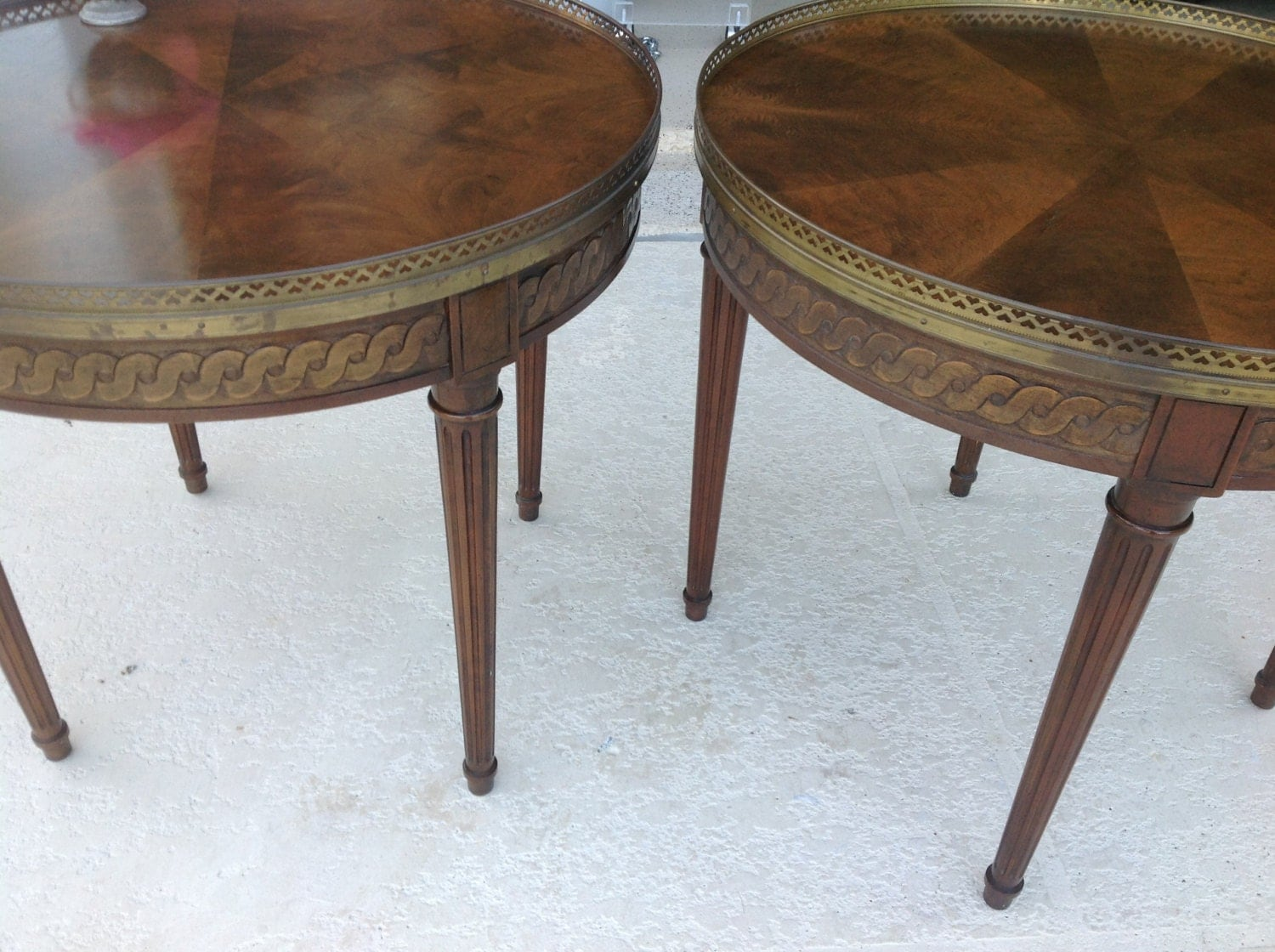 Pair Baker Side Tables Mid Century End Tables Fine Furniture