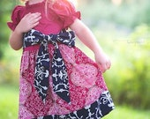 Last One, Girls Twirl Dress, Girls Clothing, Navy, Berry, Photo Shoot,Fall, Peasant Dress, Toddler Dress, Sizes 12MO,18MO,2T,3T,4T,5T
