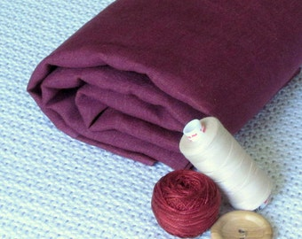 Pure Linen Burgundy Red eco friendly fabric sewing home decor supplies yardage from MyGypsyCottage