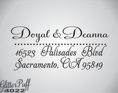 Save the Date Address Stamp - sweet script font style return address stamp - clear acrylic, knob handle or self-inking (G4022)
