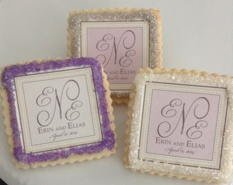 Lavender wedding favors custom cookies