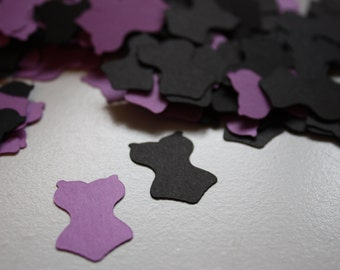 200 pieces Bachelorette Lingerie Die Cut Confetti Table Decor purple and black