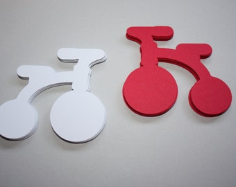 24 x Tricycle Die Cuts - Red and White