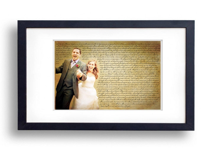 Wedding Vows Song Lyric Custom Word Art Photo Gift on Paper 11x17