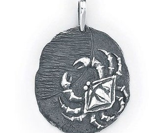 Cancer Zodiac Pendant in Sterling Silver 501-4