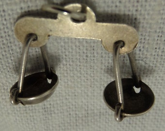 LIBRA WEIGHT SCALE  Sterling Silver Charm or Pendant