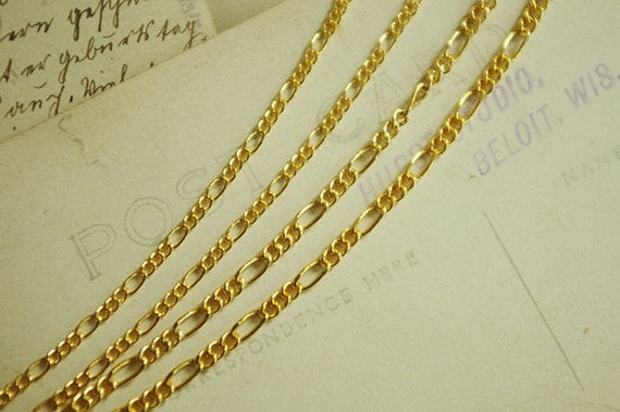 100cm 18K Gold Plated Over Brass Chain-1.8mm