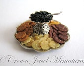 Caviar & Crackers on Limited Edition Tray by Crown Jewel Miniatures Crown Jewel Miniatures