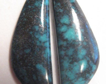 Nevada Varacite ... earring pair  ... cab set ....   Natural ... 20 x 6 x 2 mm thick          ..... a1793