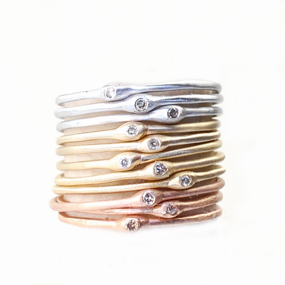 Tiny Gold Stackable Rings