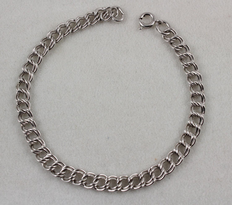 Vintage Signed ACO Sterling Silver 925 Double Link Starter