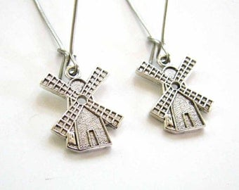 Dutch windmill earrings