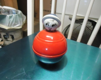Vintage Rolly Polly Toy, plastic, collectable, bobble back and forth