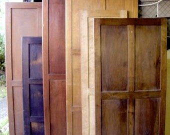 ARMOIRE BACK PANELS, Lot of 6, Antique French Armoire Reclaimed Wood