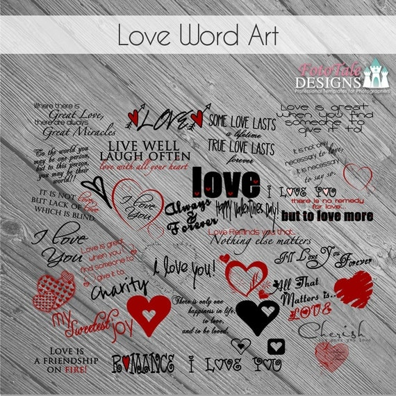 Love Quotes For Him Scrapbook : - Love Word Art Collection - 35 Quotes, Words and ClipArt- sayings ...